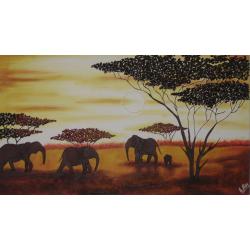 Lienzo africano 110cmx50cm